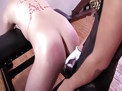 American Mistress shows Arab Slave how to worship his goddes