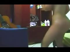Thick ass girl dancing naked