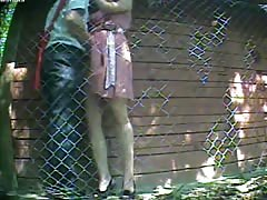 Truly spicy outdoor sex with a long-legged Russian babe