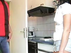 Young German Titless Babe Fucked In Kitchen