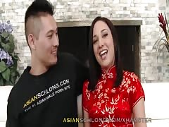 Asian Guy Jeremy Long Fucks White Girl Amara Romani AMWF AMX
