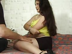 Rough doggy style for a fabulous brunette after a blowjob