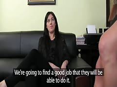 FemaleAgent. Sexual woman blossoms before agents eyes