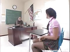 Teacher gets a juicy blowjob provided by a slutty schoolgirl