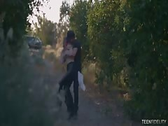 Elegant outdoor seduction in a hot scene by Teen Fidelity