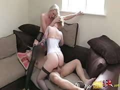 Agent is fucking with two punk sluts during hot casting