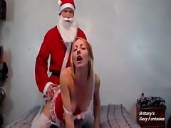 Fucking Santa Doggy Style Until Creampie
