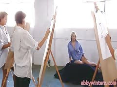 Abby Winters is giving a truly hot drawing lesson!