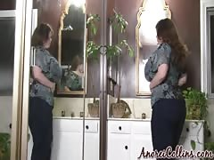 Big tits and huge ass of a BBW Anorei Collins in the sexy amateur video