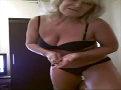 Elegant busty milf from Russia goes nude in the webcam show