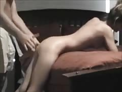 Amateur hard fucked on real homemade