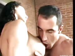 Busty shemale fucked by brazilian hunk