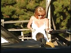 Nasty outdoor 3some action with a redhead mom Kylie Ireland