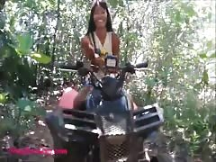 teen heather goes atving in paradise and gets huge throatpie